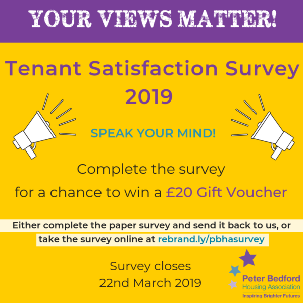 Tenant Satisfaction Survey 2019 Peter Bedford Housing Association image